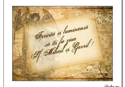 Pe 8 noiembrie, Sfinţii Arhangheli Mihail şi Gavril. Peste 1.300.000 de români le poartă numele.
