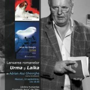 Romanele Laika şi Urma de Adrian Alui Gheorghe, lansate mîine, la Sibiu