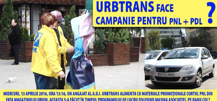 URBTRANS face campanie pentru PNL ?