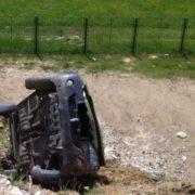 Maşină răsturnată la Dochia. Doi tineri de nici 20 de ani, victime ale accidentului
