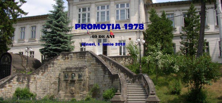 """Promoţia 1978 a Liceului """"Petru Rareş"""", întâlnirea de 40 de ani"""