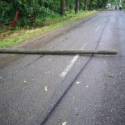 Neamţ: doi stâlpi au căzut în drumul spre Mănăstirea Horaiţa