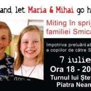 Finlanda, lasă-i pe Maria şi Mihai să se întoarcă acasă! Protest la Piatra Neamţ