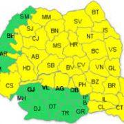Neamţ: Cod galben de instabilitate atmosferică până sâmbătă seara