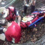 Accident… Tare ca Piatra pe traseul competiţiei de downhill