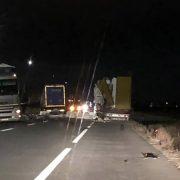 Neamţ: accident cu trei camioane la castelul de apă Roman