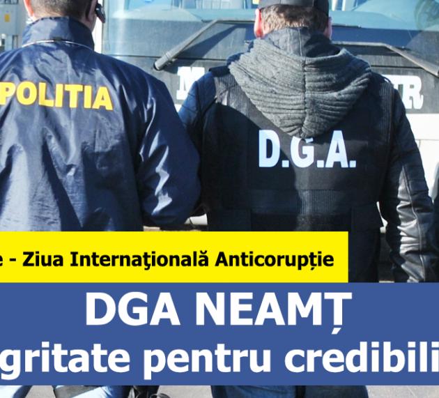SERVICIUL JUDEȚEAN ANTICORUPȚIE NEAMȚ: Ziua Internaţională Anticorupţie. Comunicat de Presă