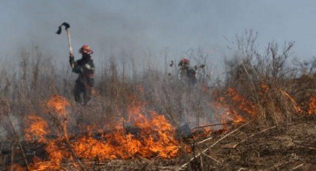 Neamţ: arderea pajiştilor, foc scăpat de sub control. Pompieri au fost chemaţi la 9 astfel de incendii