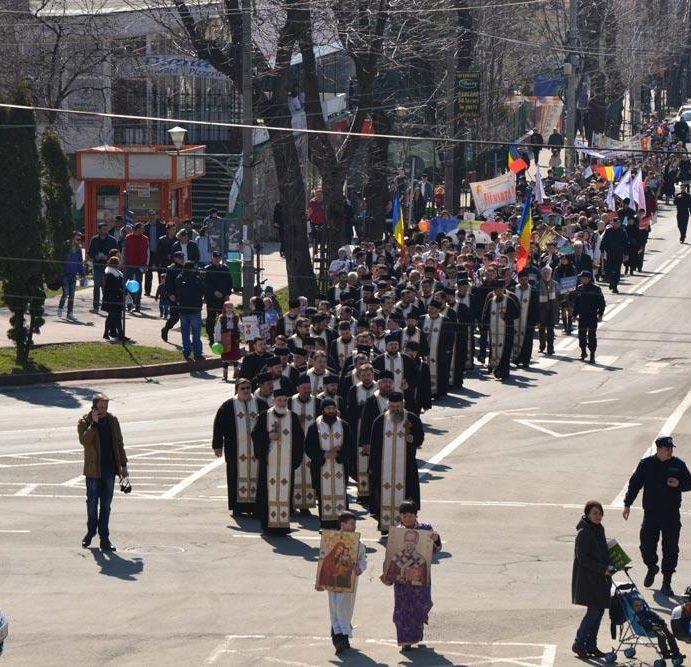 Unic din prima secundă. Marş pentru viaţă la Piatra Neamţ, în ţară şi în Basarabia
