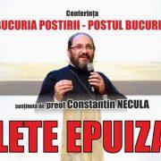 S-au epuizat biletele la conferinţa părintelui Necula!