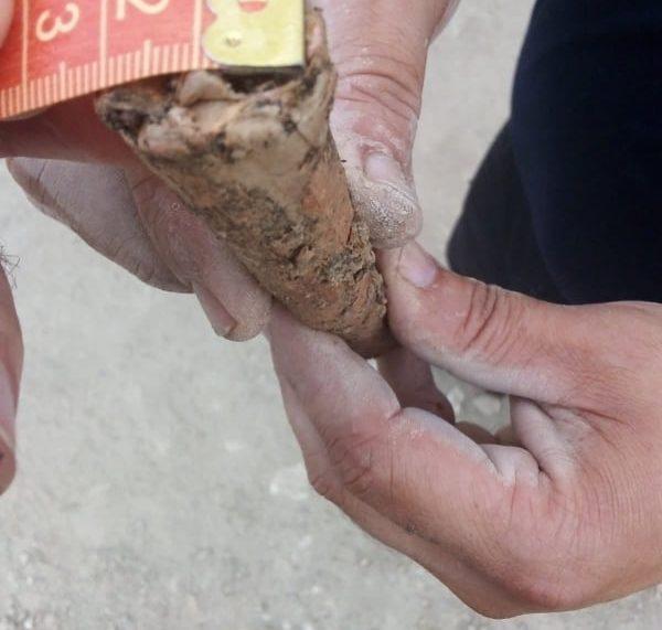 Săpături arheologice la Hanul de la Şerbeşti. S-a găsit muniţie neexplodată din ultimul război mondial