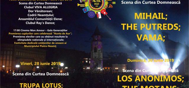 Astăzi, începe Piatra Fest! Cel mai aşteptat eveniment al anului la Piatra Neamţ! Aici, programul complet
