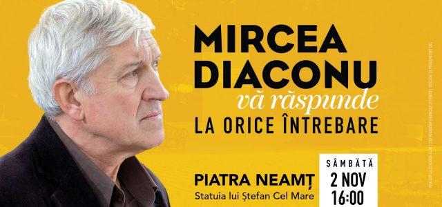 Mircea Diaconu, turneu electoral prin Piatra Neamţ