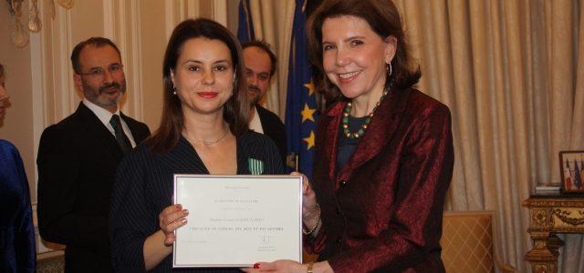 Directoarea Teatrului Tineretului Piatra Neamţ, Cavaler al Ordinului Artelor și Literelor