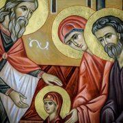Astăzi, Ovidenia (obrejania): intrarea în biserică a Maicii Domnului