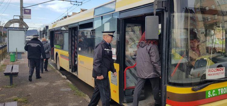 Poliţia Locală, controale în troleibuze