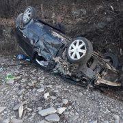 Maşină răsturnată la Pipirg; trei persoane au ajuns la spital