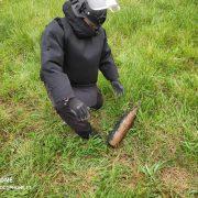 Neamţ: proiectil exploziv descoperit într-o fântână