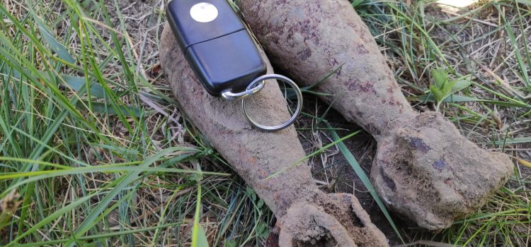 Două aruncătoare din cel de al doilea război mondial, descoperite la Petricani