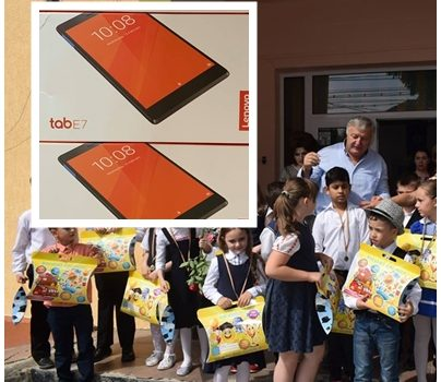 Alexandru cel Bun: Primarul Ion Rotaru a cumpărat tablete pentru elevi