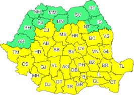 Se anunţă ploi începând de azi; cod galben pentru jumătate din Neamţ