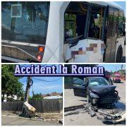 Al patrulea accident rutier azi, în Neamţ. A fost implicat un microbuz.