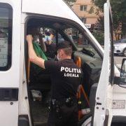 Piatra Neamţ: Cu Poliţia Locală în taxi, microbuz şi pe tersase