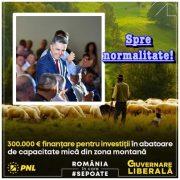 Cozmanciuc(PNL): Finanţări pentru abatoare în zona montană, în sprijinul fermierilor