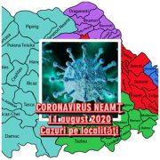 Coronavirus Neamţ: Îmbolnăviri, vindecări, decese, pe localităţi