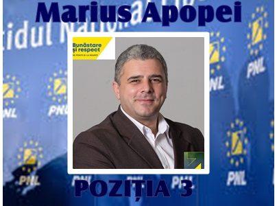 PNL, candidat de excepţie pe lista Consiliului Judeţean: Sociologul Marius Apopei