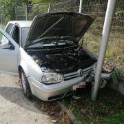 Neamţ: accident chiar în curtea Registrului Auto