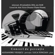 Concert de percuție la Piatra Neamț