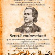 Serată Eminescu la Biblioteca Judeţeană