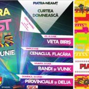 Cenaclul Flacăra, Delia, Provincialii, la Zilele Oraşului Piatra Neamţ. Program complet