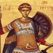 Astăzi, Sfântul Dumitru, cel care ar fi putut avea gloria lumii dar a ales-o pe cea a lui Isus