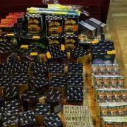 La Poiana Teiului, confiscare masivă de articole pirotehnice