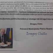 Primarul de Piatra Neamţ, scrisoare către pietreni