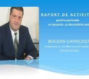 Respect pentru vice-primarul Bogdan Gavrilescu! Raport de activitate punctual, prezentat pietrenilor