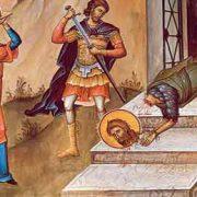 Astăzi, tăierea capului Sfântului Ioan Botezătorul