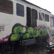 Locomotiva trenului Bacău-Piatra Neamţ a luat foc în gară la Dumbrava
