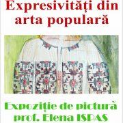 """""""Expresivități din arta populară"""", expoziție de pictură Elena Ispas, la Biblioteca Județeană"""