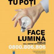 9 decembrie: În 4 localităţi din Neamţ se aprinde lumina la miezul zilei pentru Ziua Mondială a Anticorupţiei