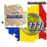 Neamţ: 16 noi cazuri de coronavirus în ultimele 24 de ore; 777 noi infectări în ţară!