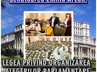 Senatoarea Emilia Arcan, despre organizarea alegerilor parlamentare