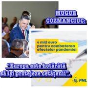 Mugur Cozmanciuc: Patru miliarde de euro, sprijin de la Comisia Europeană