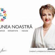 Emilia Arcan, mesaj de campanie: Candidez pentru oameni și nu împotriva cuiva!