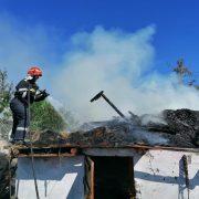 Dochia: foc la un adăpost de animale